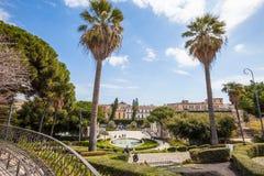 Λουτρό Κύκνος (πηγή) Giardino Bellini, Κατάνια, Σικελία Ιταλία Στοκ φωτογραφίες με δικαίωμα ελεύθερης χρήσης