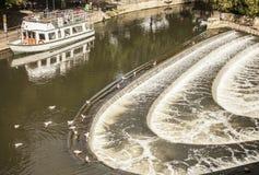 Λουτρό - ο ποταμός Avon και seagulls στοκ φωτογραφία με δικαίωμα ελεύθερης χρήσης