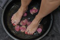 Λουτρό ποδιών Wellness Στοκ εικόνες με δικαίωμα ελεύθερης χρήσης
