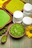 λουτρό πράσινο salt spa Στοκ Εικόνα