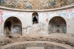 Λουτρό στη archeological περιοχή της Πομπηίας Στοκ Φωτογραφία