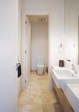 Λουτρό δωματίων σκονών στο σύγχρονο αυστραλιανό σπίτι Στοκ Εικόνα