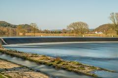 Λουτρό Pielmà ¼ ποταμών hle στον ποταμό REGEN σε Lappersdorf κοντά στο Ρέγκενσμπουργκ, Βαυαρία, Γερμανία Στοκ Φωτογραφία