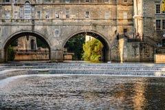 Λουτρό UK γεφυρών Pulteney Στοκ φωτογραφίες με δικαίωμα ελεύθερης χρήσης