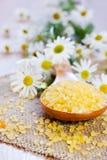 λουτρών ξύλινος κίτρινος & Στοκ Εικόνες