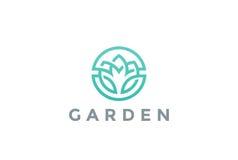 Λουλουδιών λογότυπων διανυσματικό εικονίδιο σχεδίου κύκλων αφηρημένο Στοκ Εικόνες