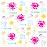 Λουλουδιών χαριτωμένο διάνυσμα σχεδίου τυλίγματος δώρων κινούμενων σχεδίων εκλεκτής ποιότητας ελεύθερη απεικόνιση δικαιώματος