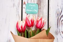 Λουλούδια άνοιξη στο ξύλο Στοκ Εικόνα