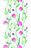Λουλούδια βατραχίων στο watercolor Στοκ εικόνα με δικαίωμα ελεύθερης χρήσης