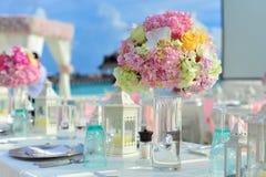 Λουλούδια γαμήλιων κεντρικών τεμαχίων Στοκ Φωτογραφία