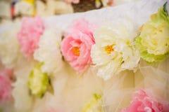 Λουλούδια γαμήλιων ντεκόρ στοκ εικόνες