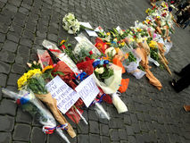 Λουλούδια για τα θύματα Στοκ Φωτογραφία