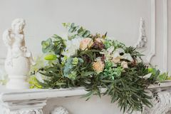 Λουλούδια για τη γαμήλια τελετή Στοκ Φωτογραφίες