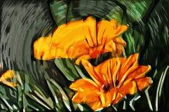 Λουλούδια ζωγραφικής Impressionism Στοκ εικόνα με δικαίωμα ελεύθερης χρήσης