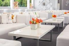 Λουλούδια διακοσμήσεων μπουφέδων Στοκ εικόνα με δικαίωμα ελεύθερης χρήσης