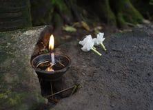 Λουλούδια και κάψιμο πετρελαίου Στοκ εικόνες με δικαίωμα ελεύθερης χρήσης