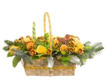 Λουλούδια καλαθιών withl Στοκ Φωτογραφίες