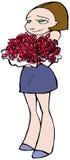 Λουλούδια κοριτσιών Στοκ εικόνες με δικαίωμα ελεύθερης χρήσης