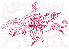 Λουλούδια με ένα όμορφο σχέδιο Στοκ φωτογραφίες με δικαίωμα ελεύθερης χρήσης