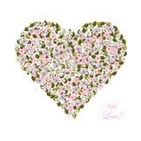Λουλούδια με μορφή μιας καρδιάς ελεύθερη απεικόνιση δικαιώματος