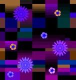 Λουλούδια με τα τετράγωνα Στοκ εικόνες με δικαίωμα ελεύθερης χρήσης