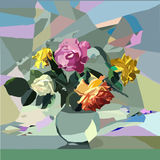 Λουλούδια μωσαϊκών Στοκ φωτογραφία με δικαίωμα ελεύθερης χρήσης