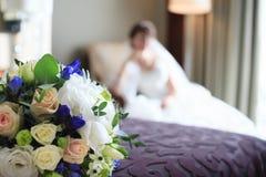 Λουλούδια νυφών και γάμου σε ένα δωμάτιο Στοκ Εικόνα