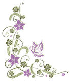 Λουλούδια, πεταλούδα Στοκ Εικόνες