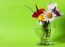 Λουλούδια σε ένα γυαλί πράσινο Στοκ εικόνα με δικαίωμα ελεύθερης χρήσης