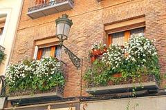 Λουλούδια σε ένα μπαλκόνι Στοκ φωτογραφία με δικαίωμα ελεύθερης χρήσης