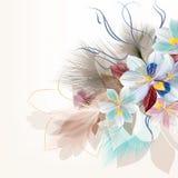 Λουλούδια στα φωτεινά μπλε χρώματα στο λευκό Στοκ Φωτογραφίες