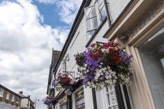 Λουλούδια στο κεντρικό δρόμο Sandbach Τσέσαϊρ Στοκ εικόνες με δικαίωμα ελεύθερης χρήσης
