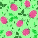 Λουλούδια τριφυλλιού στο χορτοτάπητα Διανυσματική απεικόνιση