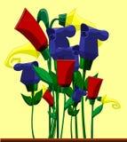 Λουλούδια υπό μορφή κρεμών Στοκ εικόνες με δικαίωμα ελεύθερης χρήσης