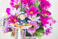 Λουλούδια υφάσματος Στοκ Φωτογραφίες