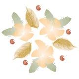 Λουλούδια φθινοπώρου Watercolor στοκ φωτογραφίες