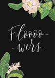 Λουλούδια φράσης Handletterin Στοκ Εικόνες