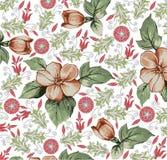 Λουλούδια. Όμορφο υπόβαθρο με ένα λουλούδι orname Στοκ Εικόνες