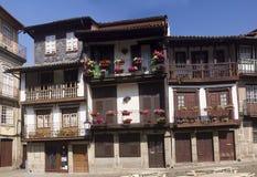 Λουλούδια Guimaraes Πορτογαλία αρχιτεκτονικής στοκ εικόνα