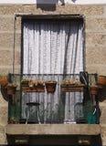 Λουλούδια Guimaraes Πορτογαλία αρχιτεκτονικής στοκ εικόνες
