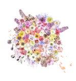 Λουλούδια Watercolor Στοκ φωτογραφίες με δικαίωμα ελεύθερης χρήσης