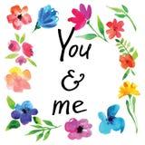 Λουλούδια Watercolor Στοκ Εικόνα
