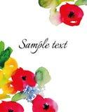 Λουλούδια Watercolor Στοκ Εικόνες