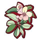 Λουλούδι δέντρων clipart Στοκ φωτογραφία με δικαίωμα ελεύθερης χρήσης