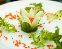 Λουλούδι από τα λαχανικά ως διακόσμηση Στοκ φωτογραφία με δικαίωμα ελεύθερης χρήσης