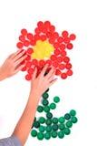 Λουλούδι από τα καλύμματα κατοικίδιων ζώων χρώματος Στοκ φωτογραφία με δικαίωμα ελεύθερης χρήσης