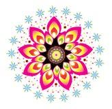 Λουλούδι γύρω από τη διακόσμηση διανυσματική απεικόνιση