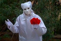 Λουλούδι εκμετάλλευσης αγαλμάτων διαβίωσης Στοκ Εικόνα