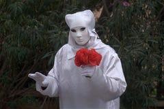 Λουλούδι εκμετάλλευσης αγαλμάτων διαβίωσης Στοκ εικόνες με δικαίωμα ελεύθερης χρήσης