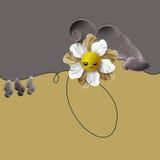 Λουλούδι και στρόβιλος Στοκ Φωτογραφία